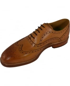 Oliver Sweeney Leather 'Aldeburgh' Oxford Brogue In Tan