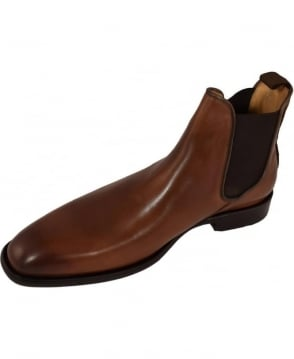 Oliver Sweeney  Leather 'Finch' Chelsea Boots In Chestnut