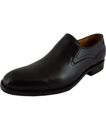 Licata Black Leather Formal Slip-On Shoe