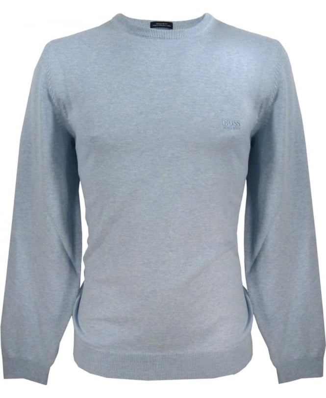 Hugo Boss Light Blue 50302547 Finelo Knitwear