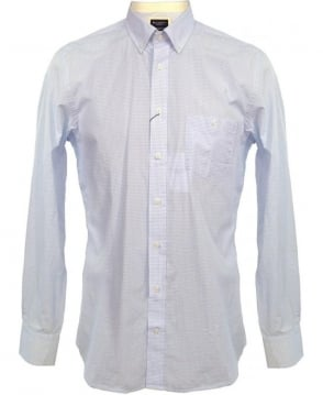Hackett Light Blue Check 303039 Shirt