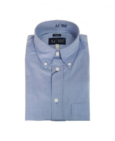 Armani Light Blue Comfort Fit Shirt