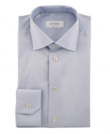 Light Blue Contemporary Fit Signature Twill Shirt