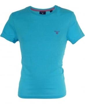 Gant Light Blue Contrast Logo T-Shirt