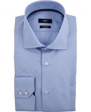 Hugo Boss Light Blue Gregory  50310379 Polka Dot Trim Shirt