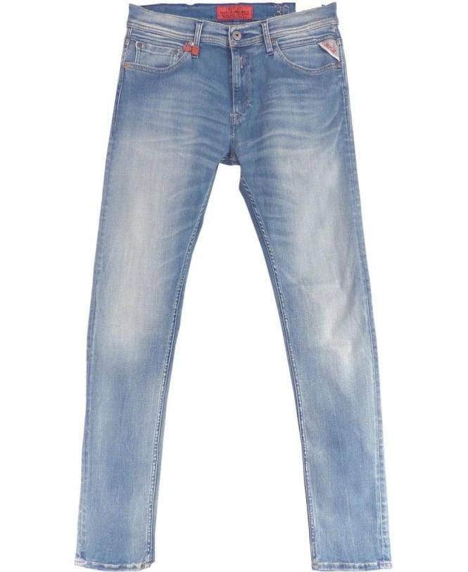 Replay Light Blue Hyperflex Jondrill Jeans