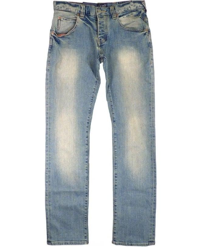 Armani Light Blue J08 Slim Fit Jeans