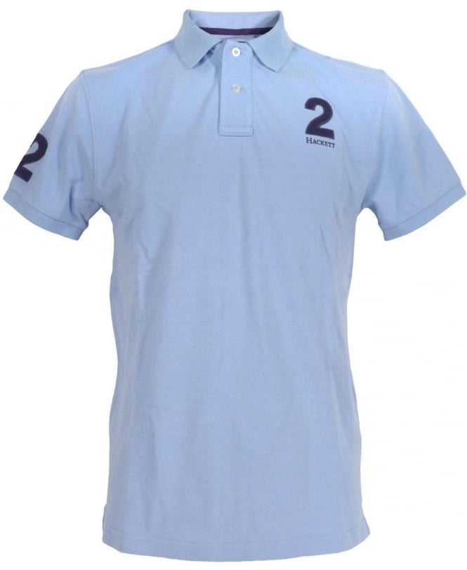 Hackett Light Blue Patched Polo