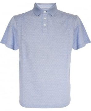 Hackett Light Blue Pattern Polo Shirt