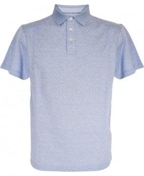 Hackett Light Blue Pattern Polo Shirt