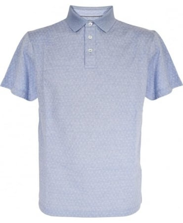 Light Blue Pattern Polo Shirt