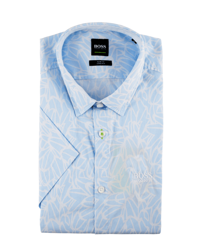 d549ae17 Boss Light Blue Patterned Slim Fit Brodi_S Shirt - Shirts from ...