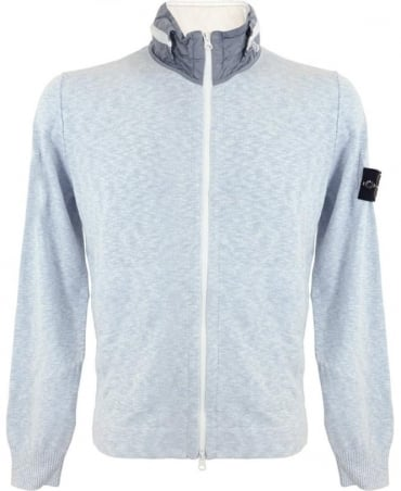 Light Blue Rasto Cotton Full-Zip Sweatshirt
