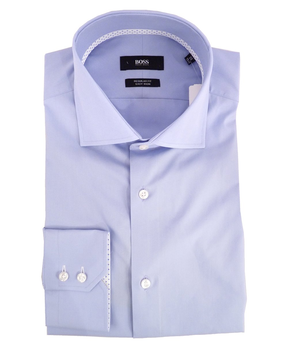 hugo boss light blue regular fit gregory shirt hugo boss