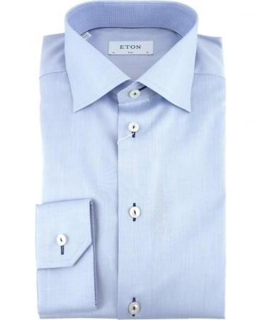 Eton Shirts Light Blue Signature Twill Slim Fit Shirt