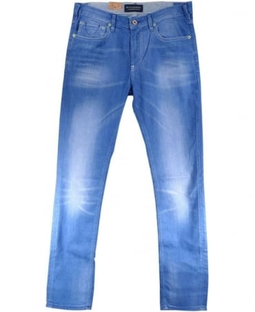 Scotch & Soda Light Blue Skim 5 Pocket Slim Skinny Fit Jeans