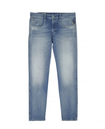 Replay Light Blue Slim Fit Anbass Jeans