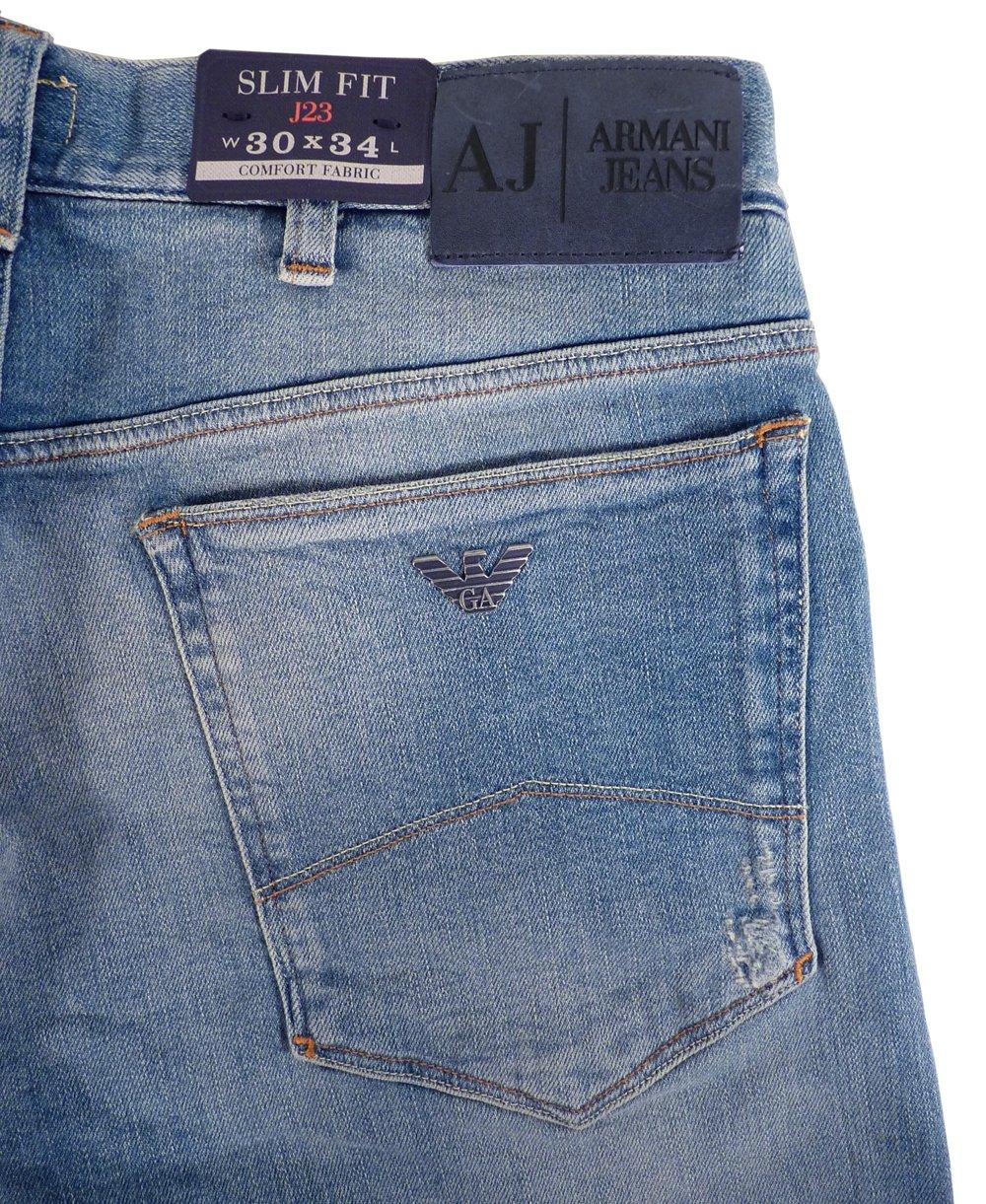 armani jeans light blue slim fit low waist j23 jeans. Black Bedroom Furniture Sets. Home Design Ideas