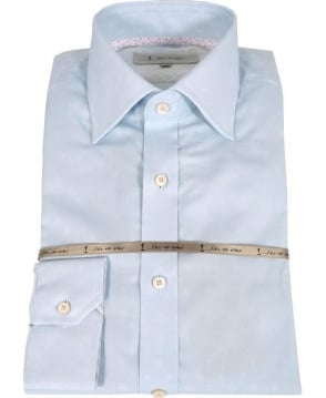 1 ...Like No Other Light Blue Subtly Patterned Shirt 2810S