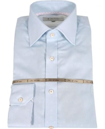Light Blue Subtly Patterned Shirt 2810S