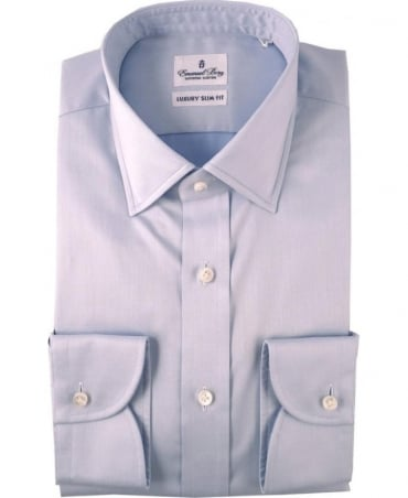 Emanuel Berg Light Blue Warsaw Slim Fit Shirt