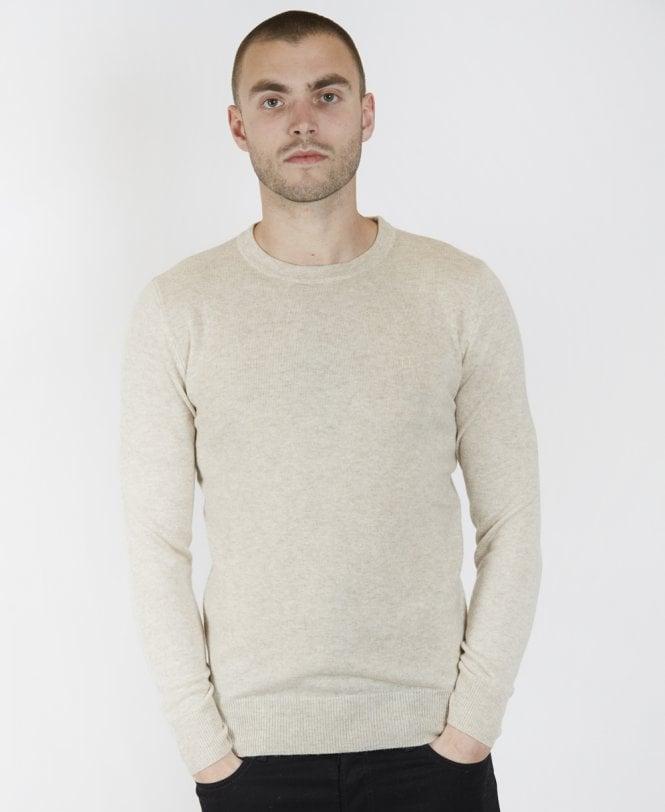 a3a10953cff3a1 Les Deux Light Brown Cashmerino Jumper - Knitwear from Jonathan ...