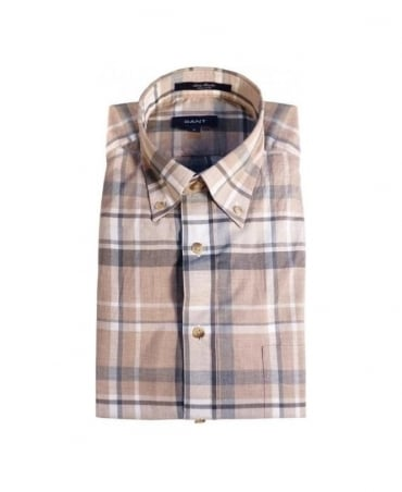 Gant Light Brown Check W.N Artic Heather Shirt