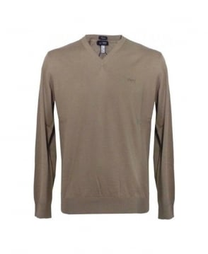 Armani Light Brown Regular Fit Jumper