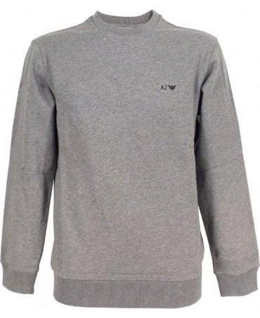 Armani Light Grey Crew Neck Sweatshirt With Logo