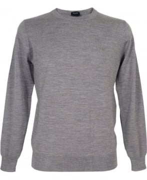 Armani Jeans Light Grey Jumper In Virgin Wool