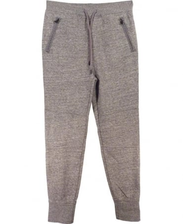 Hugo Boss Light Grey Mottled Tracksuit Bottoms