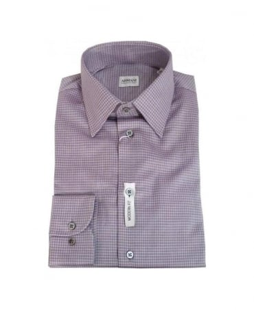 Armani Collezioni Light Purple Modern Fit Shirt