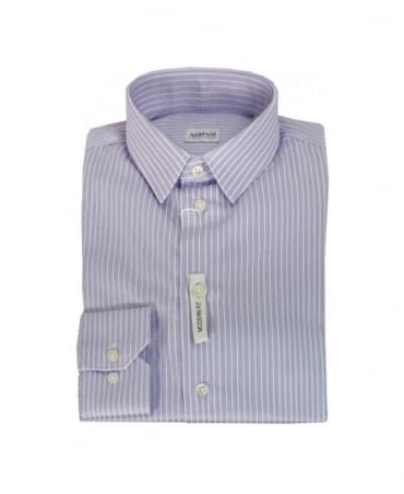 Armani Collezioni Light Purple Stripe Shirt