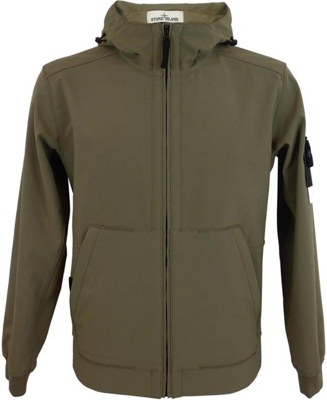 cef0a7228 Stone Island Light Soft Shell-R Jacket In Khaki