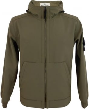 Stone Island Light Soft Shell-R Jacket In Khaki
