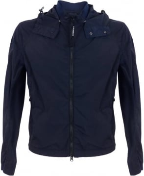 C.P. Company Lightweight Goggle Jacket In Navy