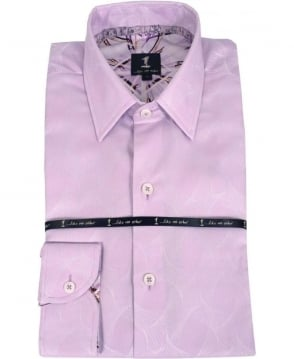 1 ...Like No Other Lilac Geometric Pattern Shirt 276IS