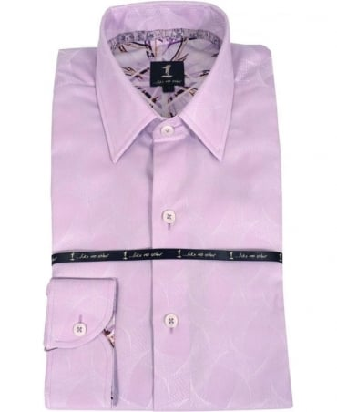 Lilac Geometric Pattern Shirt 276IS