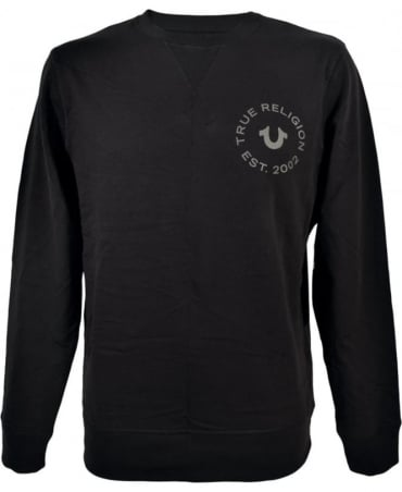 True Religion Logo Sweatshirt In Black