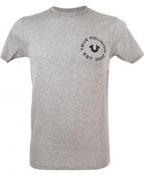 True Religion Logo T-shirt In Grey Marl