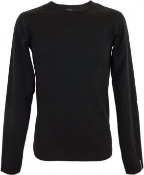Replay Long-sleeve Cotton T-shirt In Black