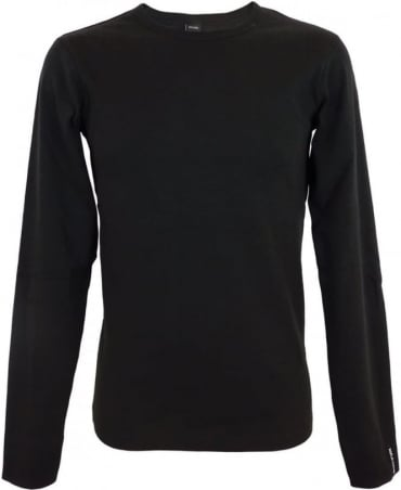 Long-sleeve Cotton T-shirt In Black