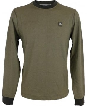 CP Company Long Sleeved Tacting T-shirt In Green