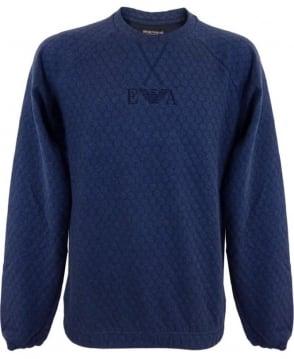 Emporio Armani  Loungwear Sweatshirt In Dark Blue