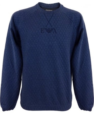 Armani Loungwear Sweatshirt In Dark Blue