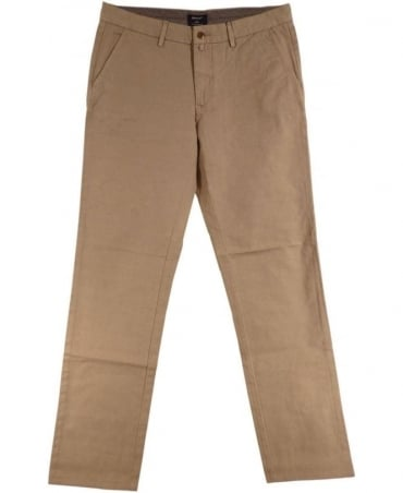 Low Waist Narrow Fit Dark Khaki Chinos