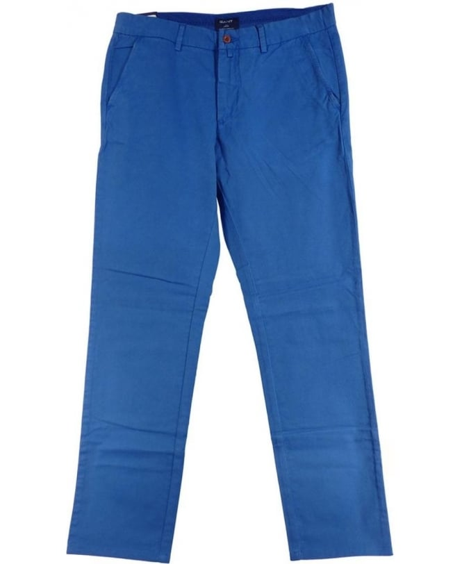 Gant Low Waist Narrow Fit Palace Blue Chinos