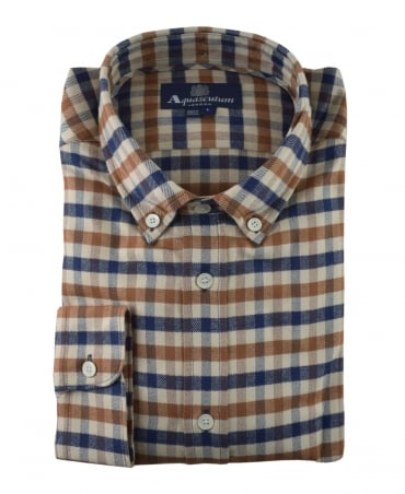 Aquascutum Magee Flannel Check Shirt