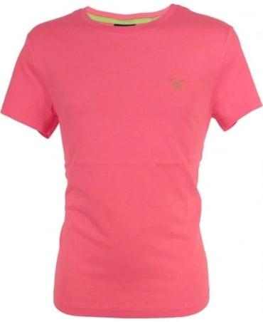 Gant Magenta Pink Contrast Logo T-Shirt