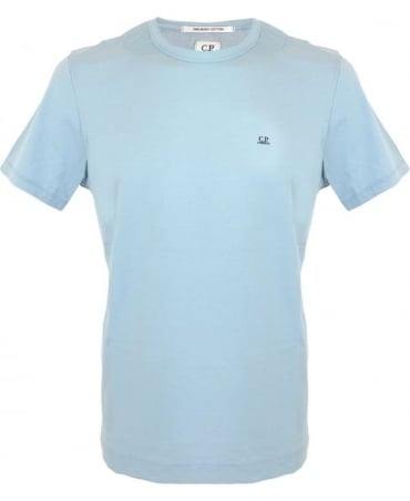 CP Company Mako Cotton T-shirt In Light Blue